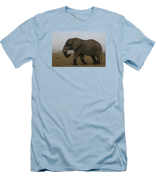 Men's T-Shirt (Slim Fit) featuring the photograph King Of The Savannah by Gary Hall