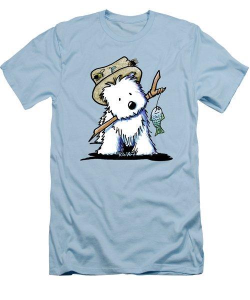 Kiniart Westie Fisherman Men's T-Shirt (Athletic Fit)