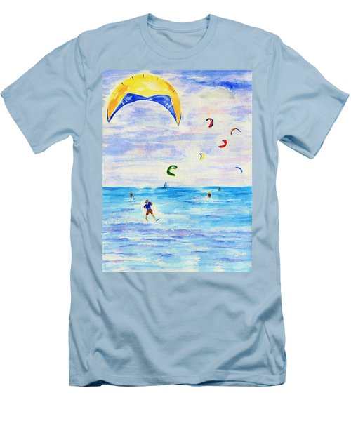 Kite Surfer Men's T-Shirt (Athletic Fit)
