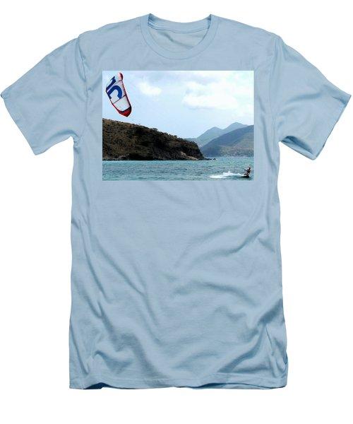 Kite Surfer St Kitts Men's T-Shirt (Athletic Fit)