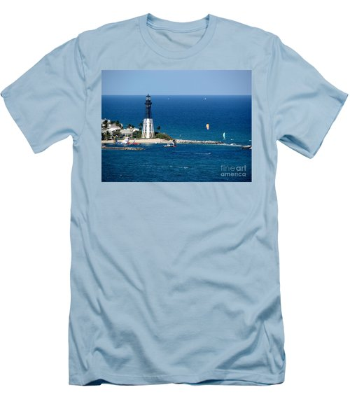 Kitesurfing And More At Pompano Men's T-Shirt (Athletic Fit)