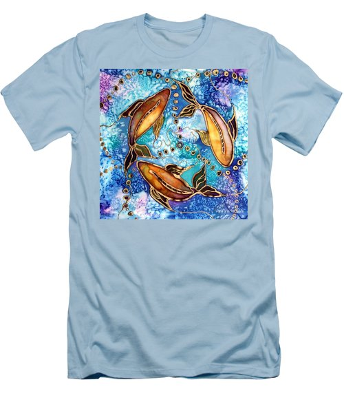 Men's T-Shirt (Slim Fit) featuring the painting Koiful by Pat Purdy