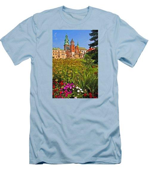 Men's T-Shirt (Slim Fit) featuring the photograph Krakow Castle by Dennis Cox WorldViews
