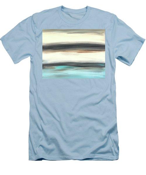 La Jolla #2 Seascape Landscape Original Fine Art Acrylic On Canvas Men's T-Shirt (Athletic Fit)