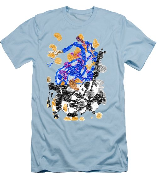 Lady In Blue Men's T-Shirt (Slim Fit) by Lori Kingston