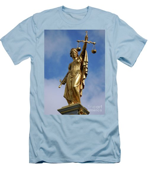 Men's T-Shirt (Slim Fit) featuring the photograph Lady Justice In Bruges by RicardMN Photography