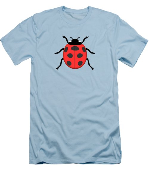 Ladybug Men's T-Shirt (Slim Fit) by Gaspar Avila
