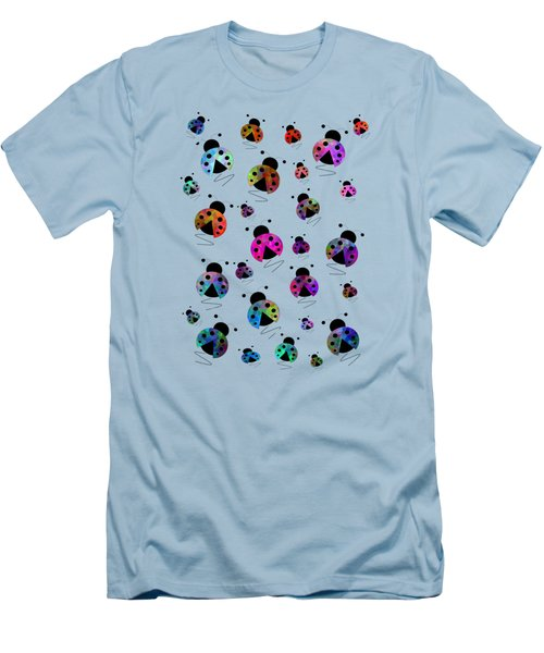 Ladybugs In Flight Men's T-Shirt (Athletic Fit)