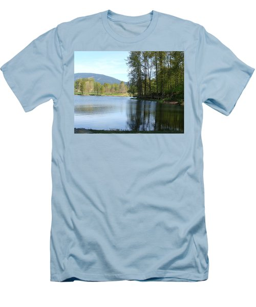 Lafarge Lake Serenity Men's T-Shirt (Slim Fit) by Rod Jellison