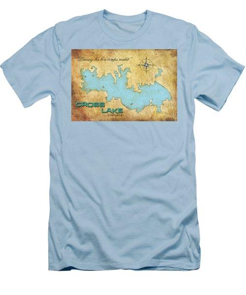 Men's T-Shirt (Slim Fit) featuring the digital art Laissez Les Bon Temps Roulet - Cross Lake, La by Greg Sharpe