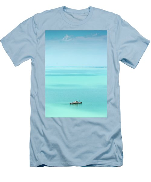 Lake Balaton Men's T-Shirt (Slim Fit) by Steven Richman