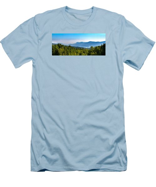 Lake George, Ny And The Adirondack Mountains Men's T-Shirt (Slim Fit) by Brian Caldwell