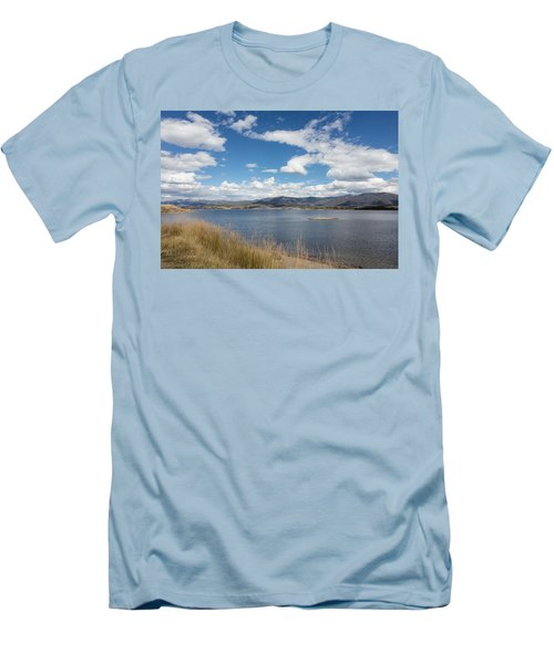 Men's T-Shirt (Slim Fit) featuring the photograph Lake Granby -- The Third-largest Body Of Water In Colorado by Carol M Highsmith
