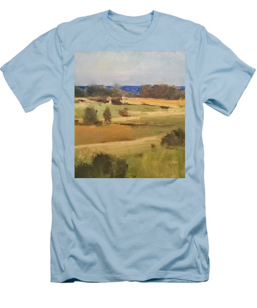 Lake Michigan Across The Field Men's T-Shirt (Athletic Fit)