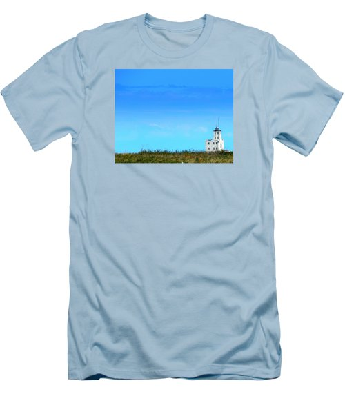 Lake Michigan Lighthouse Men's T-Shirt (Athletic Fit)