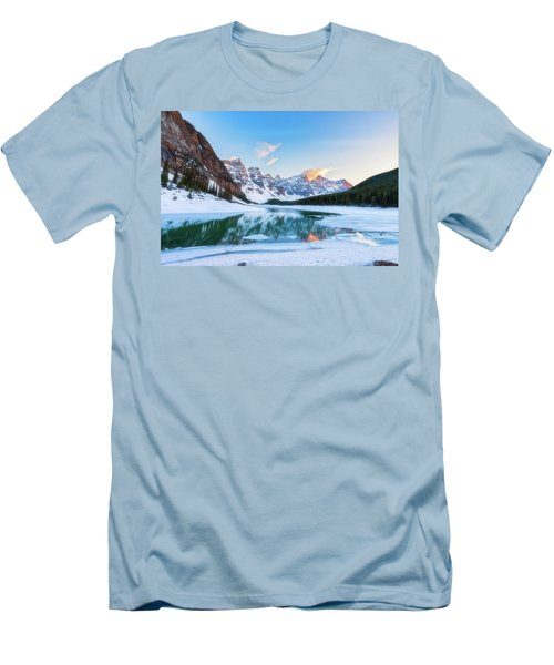 Lake Moraine Sunset Men's T-Shirt (Athletic Fit)
