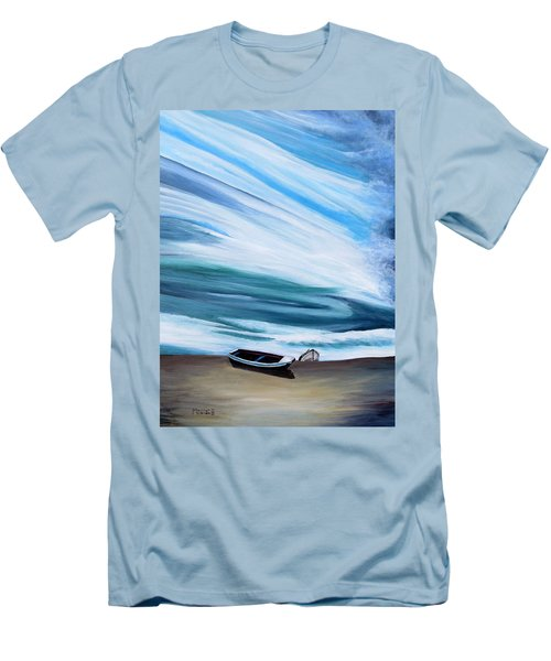 Land Meets Sky Men's T-Shirt (Slim Fit) by Marilyn  McNish
