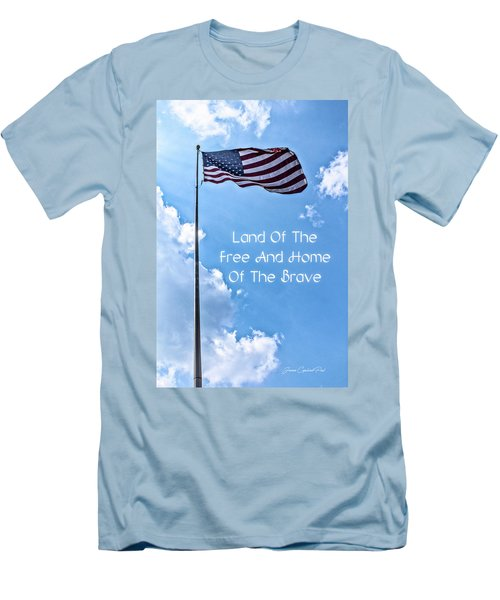 Land Of The Free Men's T-Shirt (Slim Fit) by Joann Copeland-Paul