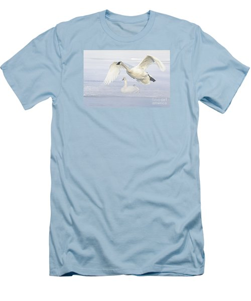 Men's T-Shirt (Slim Fit) featuring the photograph Landing In The Cold by Larry Ricker