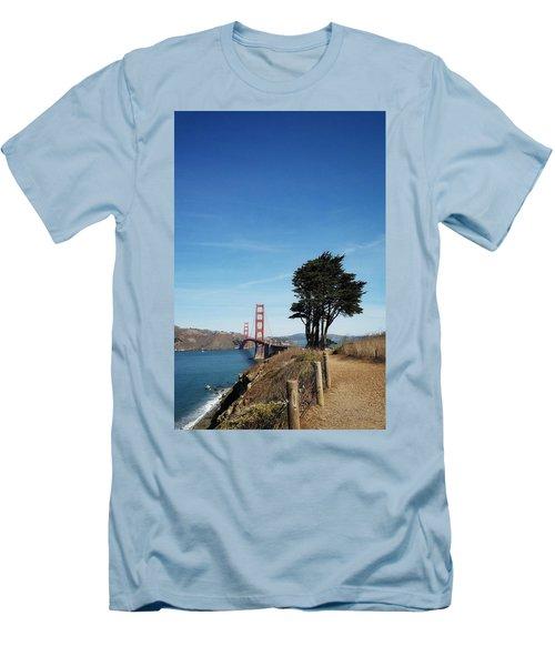 Landscape With Golden Gate Bridge Men's T-Shirt (Athletic Fit)
