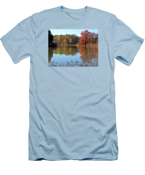 Men's T-Shirt (Slim Fit) featuring the photograph Last Colors Of Fall by Teresa Schomig