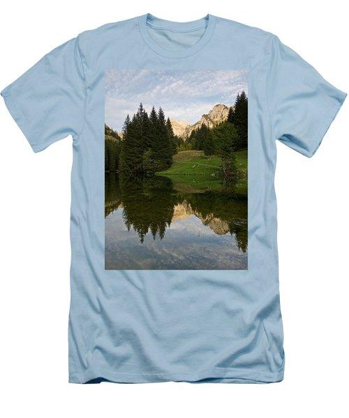 Last Light At Lac De Fontaine Men's T-Shirt (Athletic Fit)