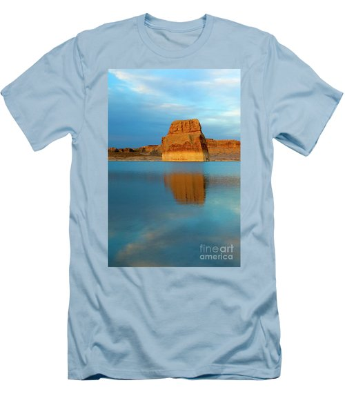 Men's T-Shirt (Slim Fit) featuring the photograph Last Light At Lone Rock by Mike Dawson