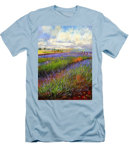 Lavender Field Men's T-Shirt (Slim Fit)