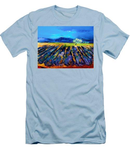 Lavender Field Men's T-Shirt (Athletic Fit)