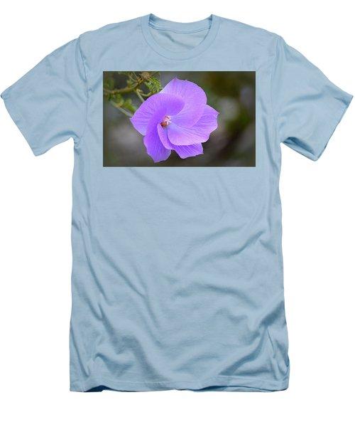 Men's T-Shirt (Athletic Fit) featuring the photograph Lavender Flower by AJ Schibig