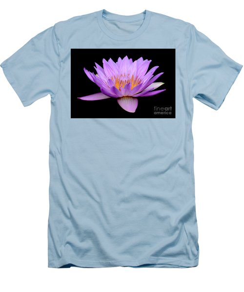 Lavender Tropical Day Lily Men's T-Shirt (Athletic Fit)