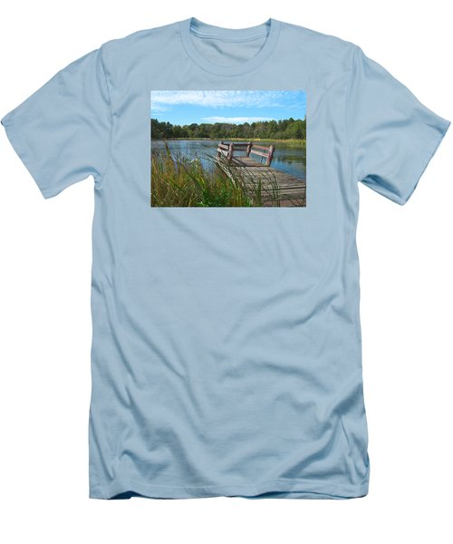 Leaning Pier At Pine Lake Men's T-Shirt (Athletic Fit)