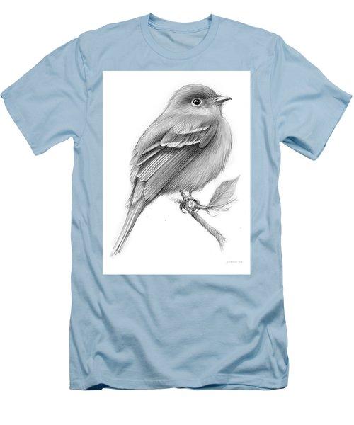 Least Flycatcher Men's T-Shirt (Slim Fit) by Greg Joens