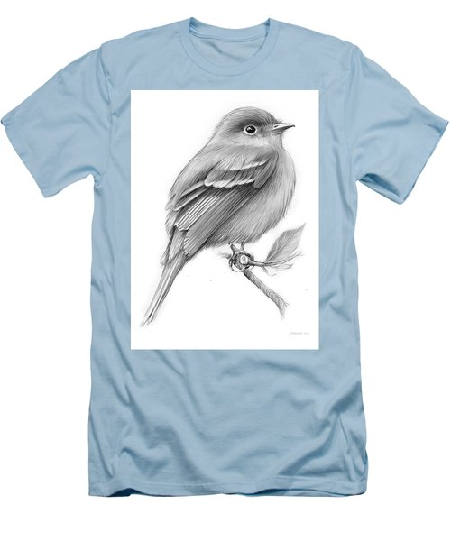 Least Flycatcher Men's T-Shirt (Athletic Fit)