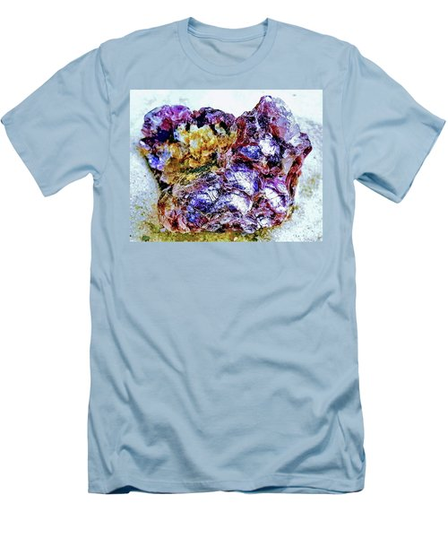 Lepidolite Men's T-Shirt (Slim Fit) by Rachel Hannah