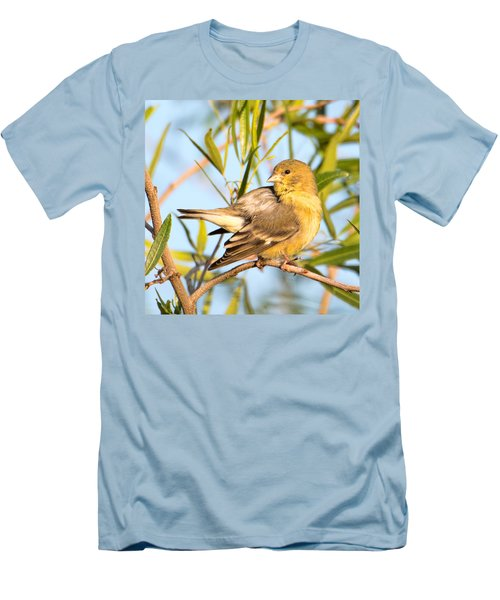 Men's T-Shirt (Slim Fit) featuring the photograph Lesser Goldfinch by Dan McManus