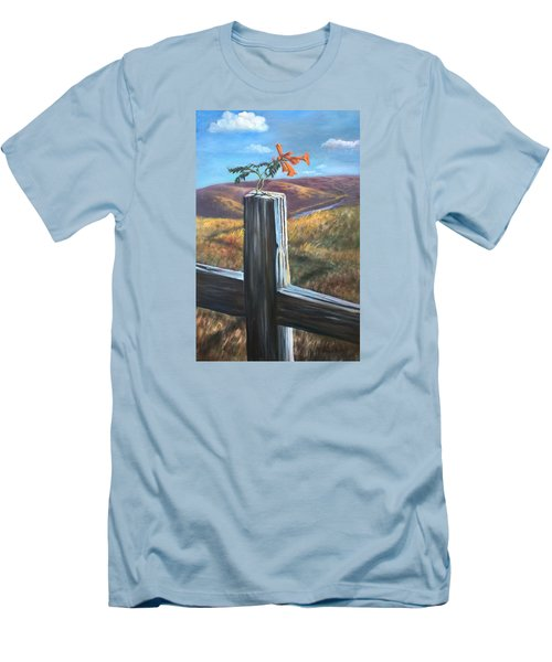 Men's T-Shirt (Slim Fit) featuring the painting Triumphant by Randol Burns