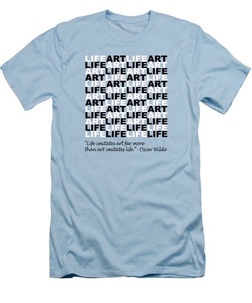 Life Imitates Art Men's T-Shirt (Athletic Fit)