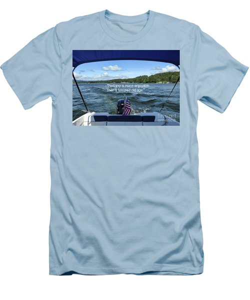 Men's T-Shirt (Athletic Fit) featuring the photograph Life Of Leisure by Peggy Hughes