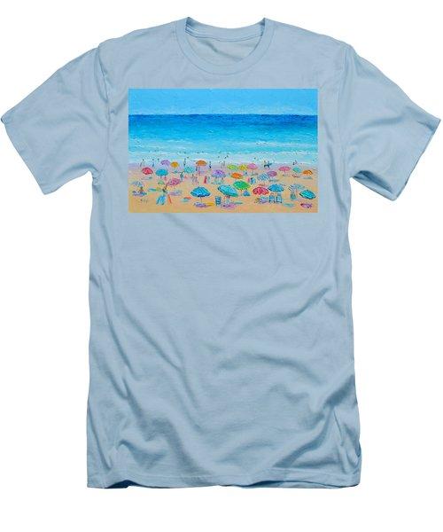 Life On The Beach Men's T-Shirt (Slim Fit) by Jan Matson