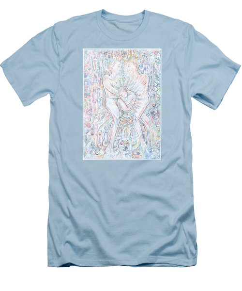 Men's T-Shirt (Slim Fit) featuring the mixed media Life Series 1 by Giovanni Caputo