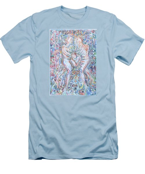 Men's T-Shirt (Slim Fit) featuring the mixed media Life Series 2 by Giovanni Caputo