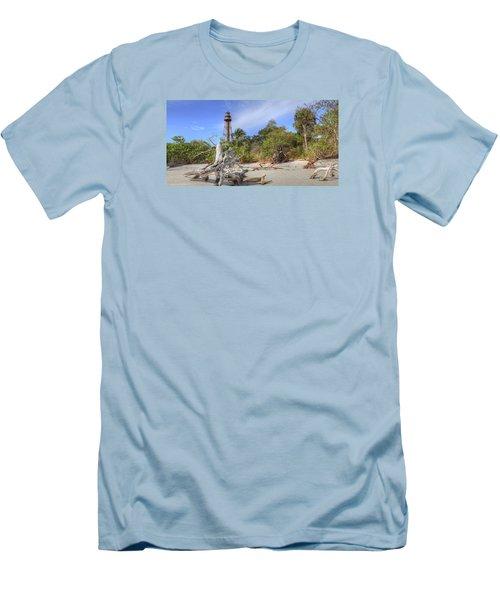 Light Behind The Stump Men's T-Shirt (Slim Fit) by Sean Allen