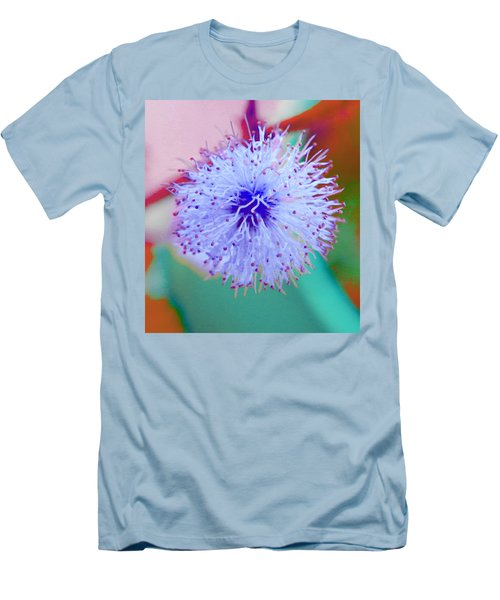 Light Blue Puff Explosion Men's T-Shirt (Slim Fit) by Samantha Thome