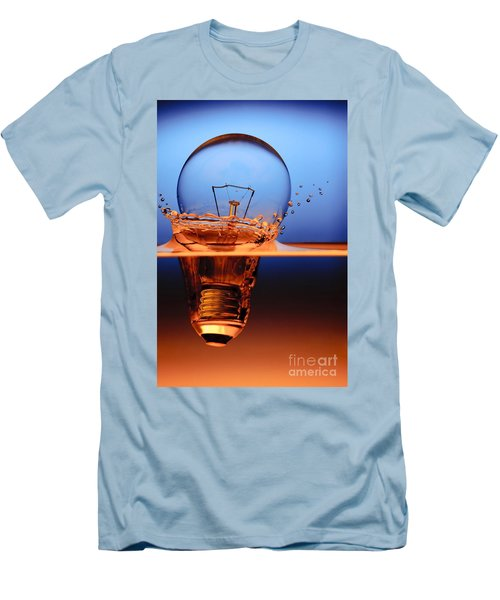 Light Bulb And Splash Water Men's T-Shirt (Athletic Fit)