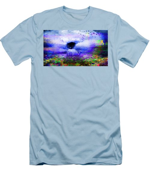 Lighthouse Angel Purple In Hotty Totty Style Men's T-Shirt (Athletic Fit)
