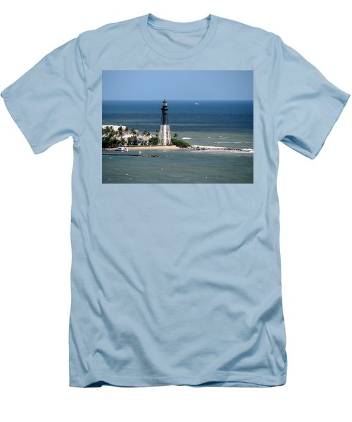 Lighthouse At Hillsboro Beach, Florida Men's T-Shirt (Athletic Fit)