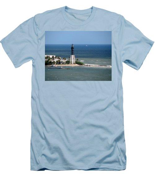 Lighthouse At Hillsboro Beach, Florida Men's T-Shirt (Athletic Fit)