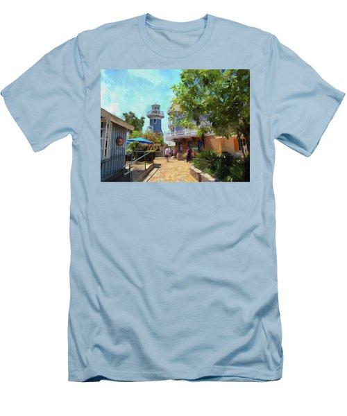 Lighthouse At Seaport Village Men's T-Shirt (Athletic Fit)