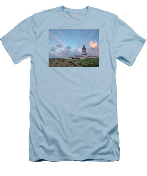 Lighthouse Sunrise At Cape Espichel Men's T-Shirt (Athletic Fit)